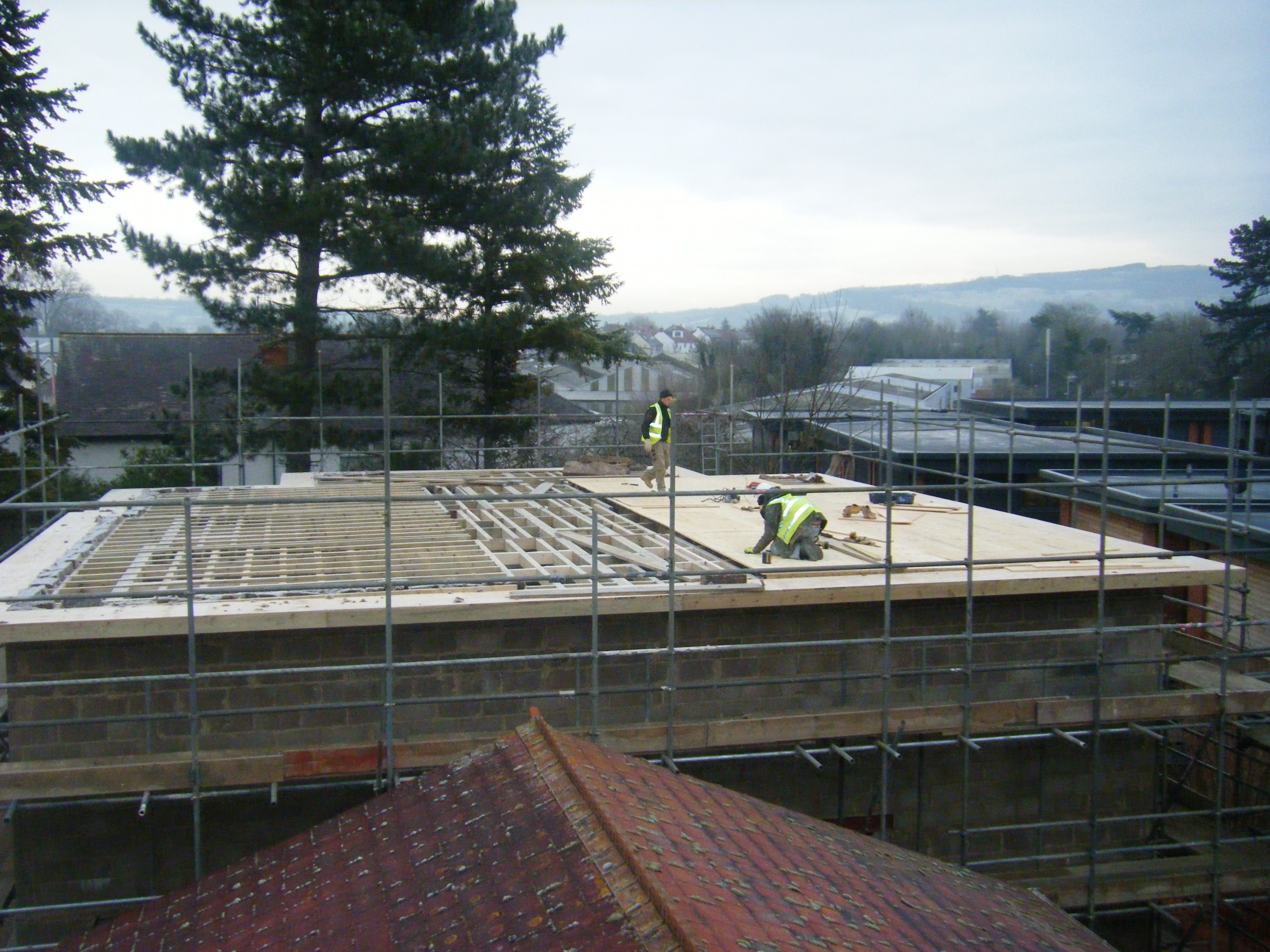 Our extension is progressing despite the cold weather!